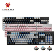 HEXGEARS GK706 Kailh MX Blue Switch Mechanical Gaming Keyboard Water Resistance Pink 104 Key Mechanical Keyboard game keyboard tkl mechanical keyboard kailh mx blue switches lol tenkeyless 87 keys gaming nkro