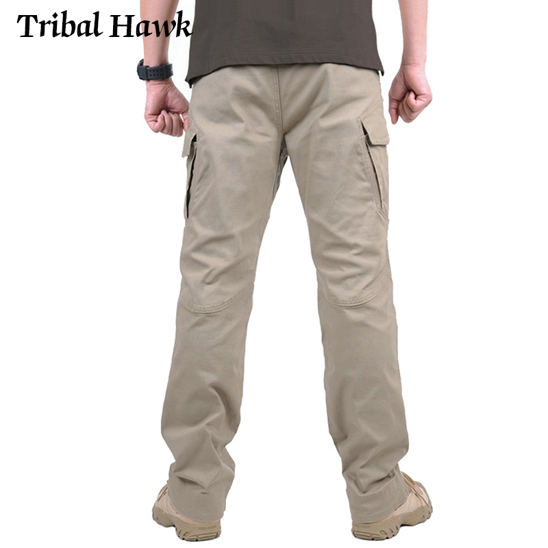 Image 5 - Tactical Cargo Pants Men Military Work Pants Army Stretch Flexible Multi Pockets Casual Cotton Trousers Pantalon Hombre XXXL IX9-in Cargo Pants from Men's Clothing