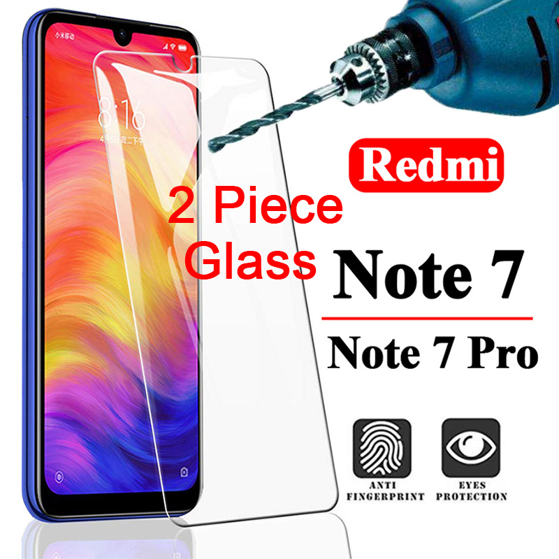 2PCS 9H Protective Film Screen Protector For Redmi Note 8 Pro Tempered Glass For Xiaomi Redmi Note 8T 7 6 5 Pro 5A 4 4X HD Film