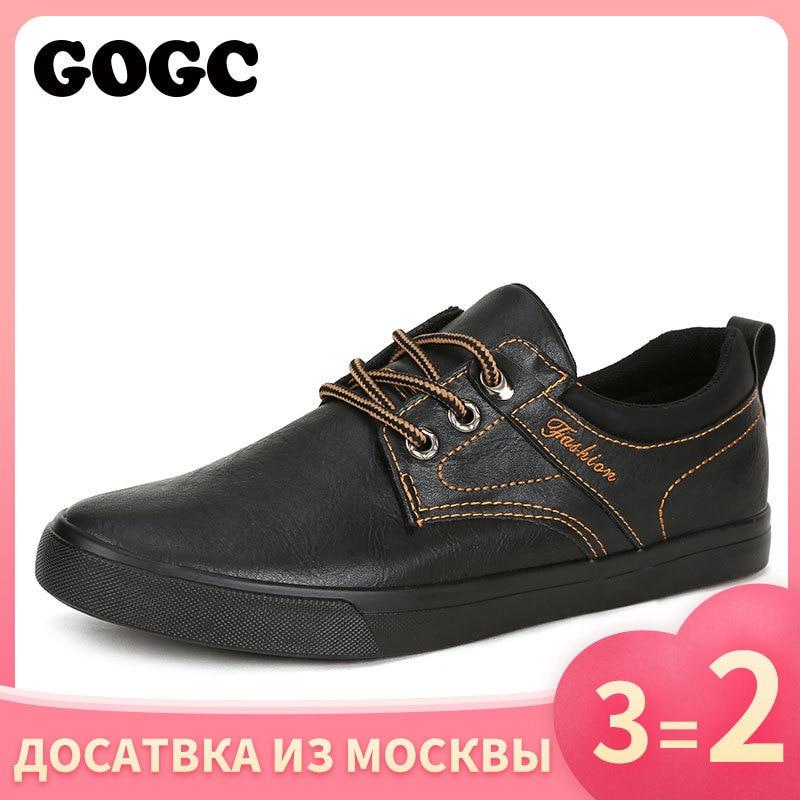 GOGC Leather Shoes krassovki kedy Casual slipony loafers krasovki men Spring Men's Shoes canvas shoes summer sneakers men G763