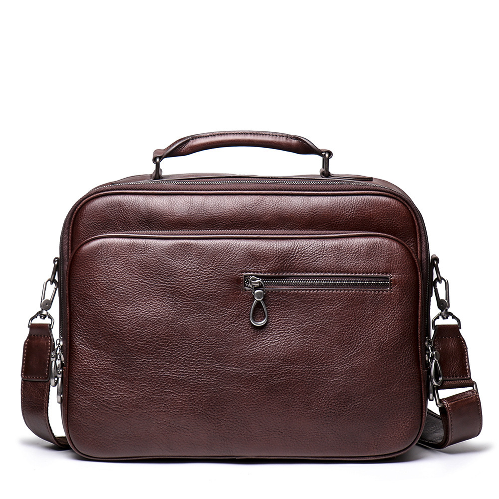 Top Quality Men Real Leather Antique Style Briefcase Business 15.6