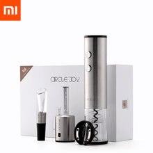 Xiaomi-sacacorchos eléctrico Mijia circular Joy 4 en 1, abrebotellas de vino tinto automático, tapón redondo de acero inoxidable, regalo