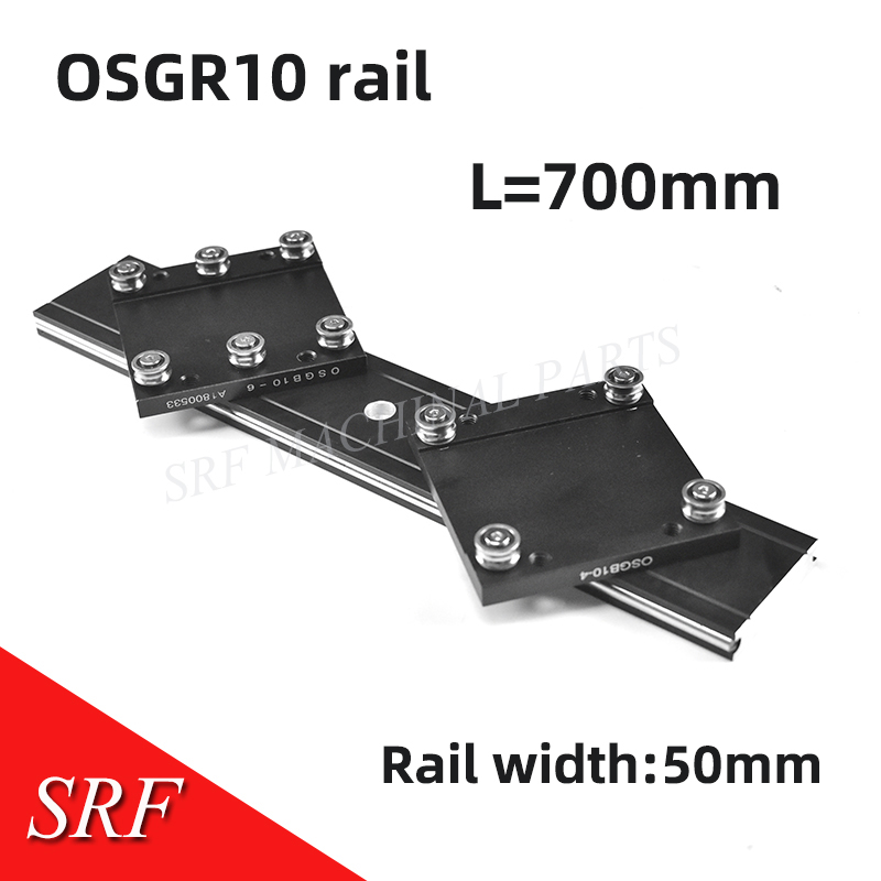 50mm width  Aluminum roller linear guide rail external dual axis linear guide OSGR10 L=700mm+ OSGB10 slide block