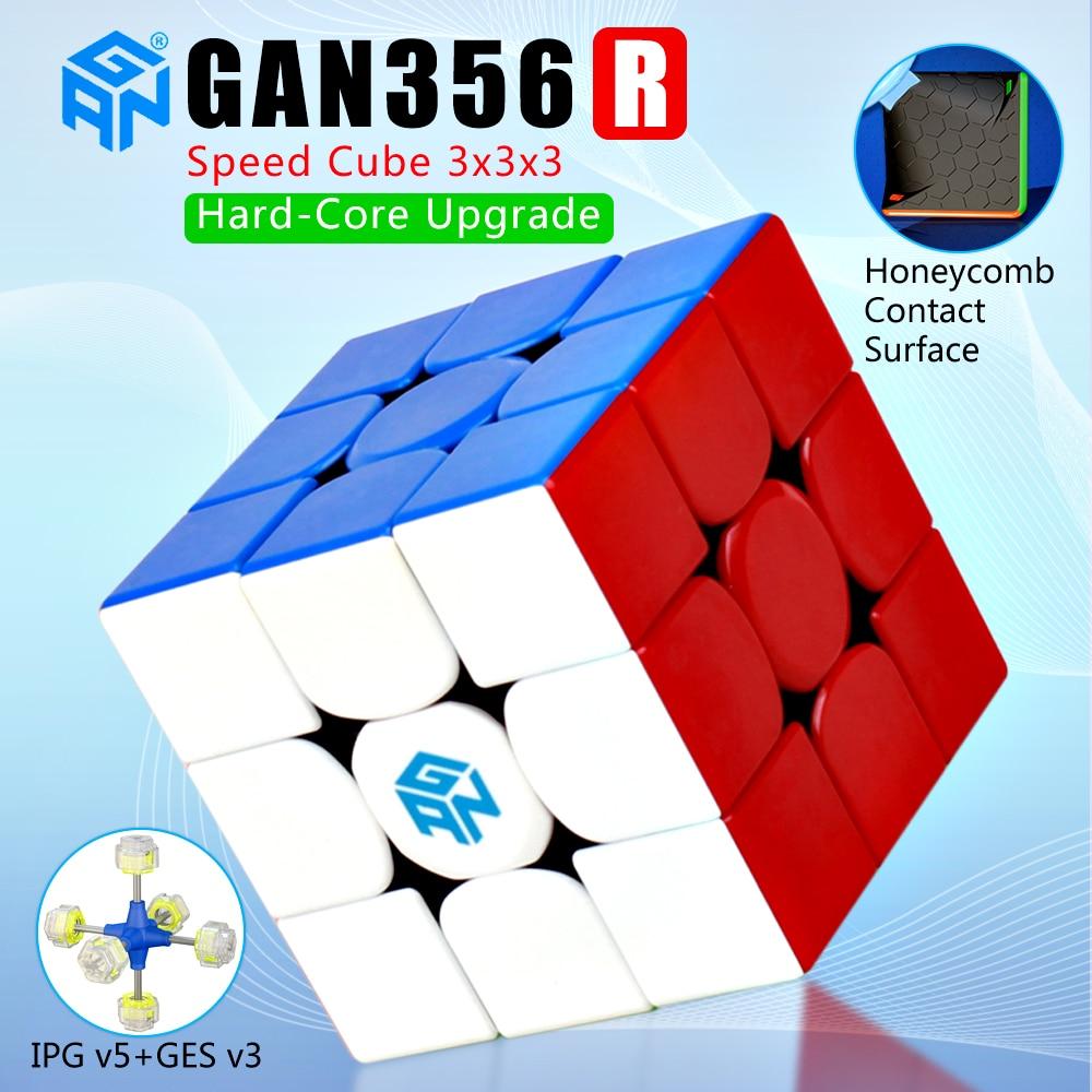 Gan356R 3x3x3 Magic Speed Cube Professional Palyer Stickerless Gan356 R 3x3 Cubo Magico GES V2 Gan 356R Puzzles GAN 356 R