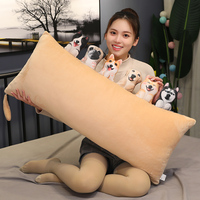 Hot Cute Simulation Dog Plush Toy 3D Printing Stuffed Animal Dog Plush Pillow Stuffed Cartoon Cushion Kids Doll Home Decro Gift