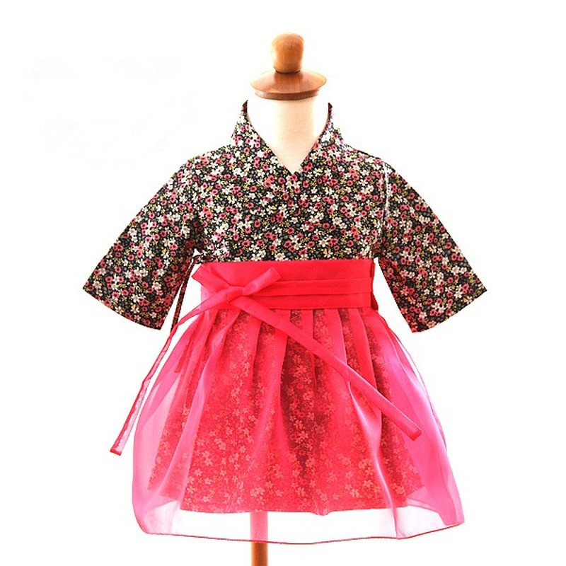 Girl Hanbok Korea Traditional Hanbok Dress For Children Korean National Clothing Children's Pure Cotton Dress Stage Performance