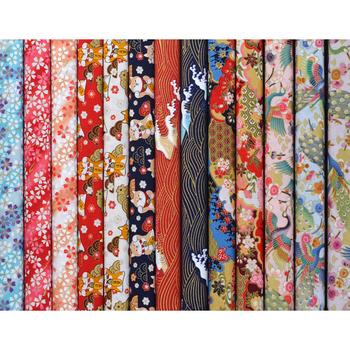 DIY 35x50CM Multicolor japonia Zephyr wzór bawełna pur-cut Patchwork japoński tkaniny do szycia pikowania rzemiosła dla Handmade tanie i dobre opinie Tkane Ekologiczne Brocade fabric warp 25cm Inne tkaniny 100 bawełna PRINTED Dobby Ściegu związany Tak ( 50 sztuk)