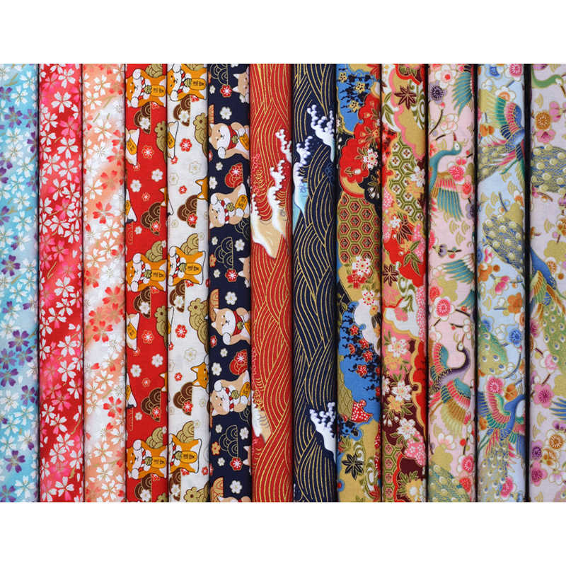 Diy Multicolor Japanse Zephyr Patroon 35X50 Cm Katoen Pur-Cut Patchwork Naaien Quilten Ambachten Voor Handgemaakte