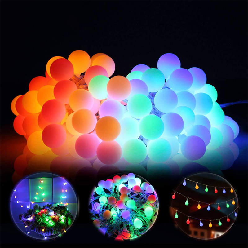 LED Globe String Lights Battery Waterproof Outdoor Christmas Garlands Fairy Light For Wedding Party New Year 's Decoration Gift