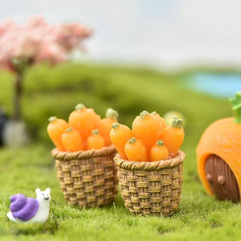 Pendentif artisanal fait à la main, accessoire jardin féerique Miniature, lapin carotte, Micro paysage