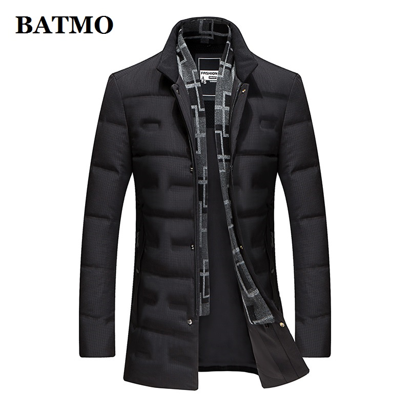 BATMO 2019 New Arrival Winter High Quality 90% White Duck Down Jackets Men,men's Warm Jackets ,plus-size 8903