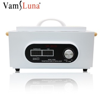 Nail Sterilizer Sanitizing Box With LCD Screen High Temperature Anti Virus For Home Tweezers Scissors Manicure Nail Tool
