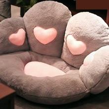 Kawaii Loving Heart  Cat Paw Pillow Antislip Floor Mat Soft Chair Cushion Indoor Floor Chair Cute Bear Claw Pillow Birthday Gift
