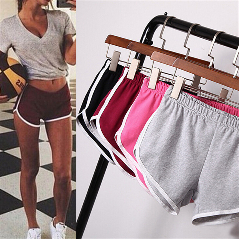 Summer Women Sports Shorts Short Pants Gym Workout Waistband Running Jogging Short Size S-XXL
