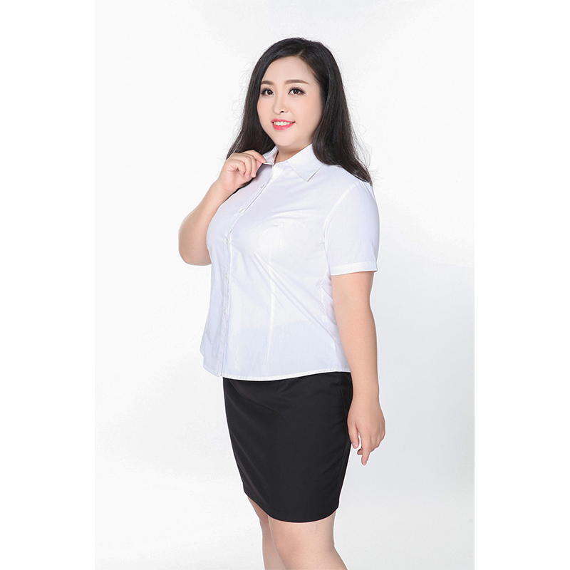 2019 Blouse Women Plus Size Shirt White Pink Blue Business Attire Tops <font><b>5XL</b></font> <font><b>6XL</b></font> <font><b>7XL</b></font> <font><b>8XL</b></font> <font><b>9XL</b></font> Extra Large Big Office Formal image