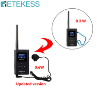 RETEKESS TR504 0.6W wireless FM Transmitter Handheld MP3 Broadcast Portable Radio For Meeting Tour Guide System Outdoor Camping
