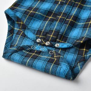 Image 4 - Newborn Baby Boy Denim Clothes Cotton Plaid Rompers Gentleman Bib Jeans Clothing Suit Outfit 6   24M