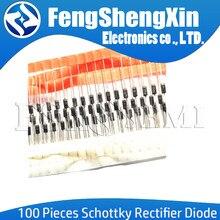 100PCS NEW Schottky Diodos Retificadores 1N5817 1N5819 1N5399 1N4937 1N4004 1N4001 1N4007 UF4007 HER107 FR207 FR157 FR107 RL207 FAZER-41