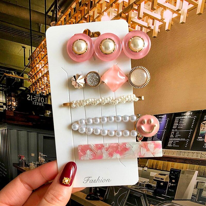 New Korean Hair Clip Hair Jewelry For Women Girl Fashion Pearl HairPin Crystal Barrettes Clip Headwear Hair Accessories Gift