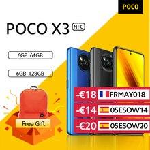 Teléfono Inteligente POCO X3 NFC, versión Global, Snapdragon 732G, cámara de 64MP, 5160mAh, carga de 33W xiaomi official store