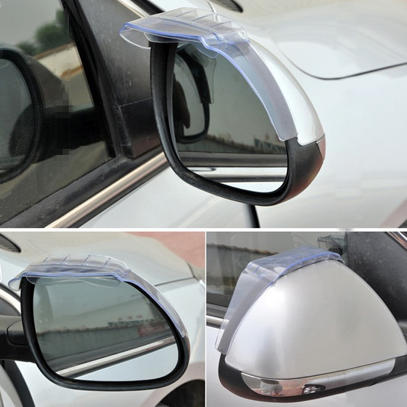 1 Pair Of Eyebrow Cover Car Auto Air-Drying Rearview Mirror Rain Eyebrow Cover Safe Driving Universal Transparent Black