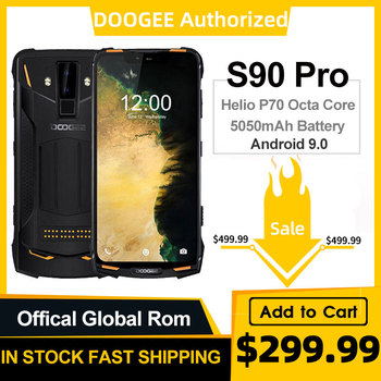 IP68 DOOGEE S90 Pro Modular Rugged Mobile Phone Helio P70 Octa Core 6GB 128GB 6.18inch Display 12V2A 5050mAh 16MP+8MP Android 9