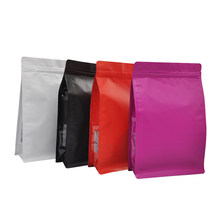50Pcs Eight-Sided Sealing Matte Aluminum Solid Color Side Window Flower Tea Coffee Food Zipper Lock Storage Universal Bag