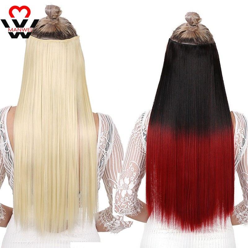 Женские Длинные клипсы для наращивания волос MANWEI, синтетические натуральные волосы с волнистой водой, блонд, черный, 24 дюйма, заколки с эффектом омбре|Синтетические прикрепляющиеся пряди|   | АлиЭкспресс
