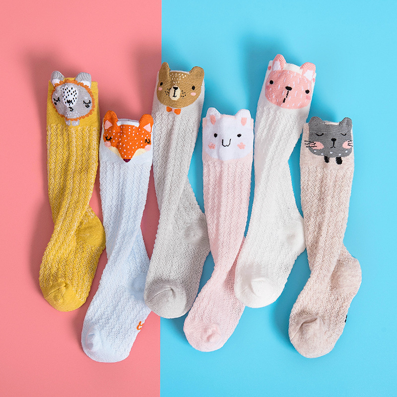 Cartoon Cute Kids Cotton Socks Bear Animal Baby Cotton Socks Knee High Long Leg Warmers Socks Boy Girl Children Socks 0-3 Years
