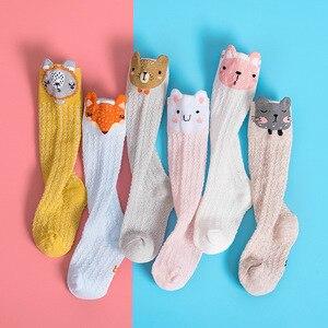 Cartoon Cute Kids Cotton Socks Bear Animal Baby Cotton Socks Knee High Long Leg Warmers Socks Boy Girl Children Socks 0-3 Years(China)