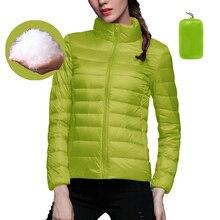 2020 Women Down Jackets Coats Velvet Warm Down Ultra Light H