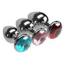 3pcs/Set Back Yard Tube Small Medium Big Smooth Metal Anal Plug Dildo Sex Toys Products Butt Plug Gay Anal Beads for Women/Men