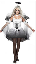 HOT Sale Clothing female adult masquerade halloween cosplay costume angel demon role playing Dress Headwear