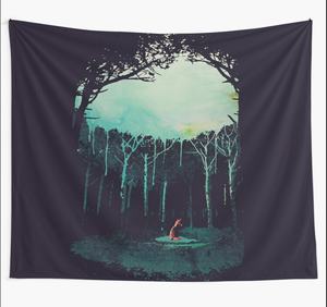 Deep In The Forest Tapestry Boho Mandala Tapestries Witchcraft Hippie Living Room Dorm Wall Hanging Blanket Home Decor