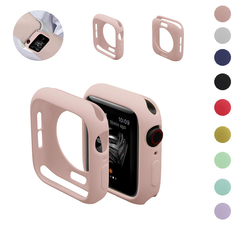 Watch-Cover-Case Soft-Cases Apple Watch Scratch Colorful 38mm 40mm for 5/4/3-/.. 44mm