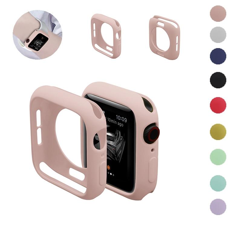 Чехол для часов Apple Watch 5/4/3/2/1 40 мм 44 мм, цветные мягкие чехлы для iWatch Series 3 2 42 мм 38 мм