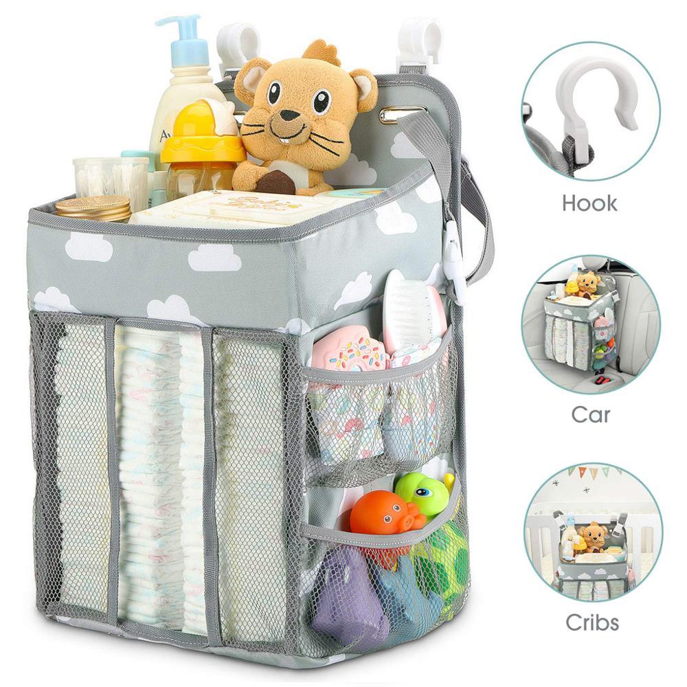 Baby Newborn Bed Storage Organizer Crib Hanging Storage Bag Caddy Organizer For Baby Essentials Bedding Set Diaper Storage Bag