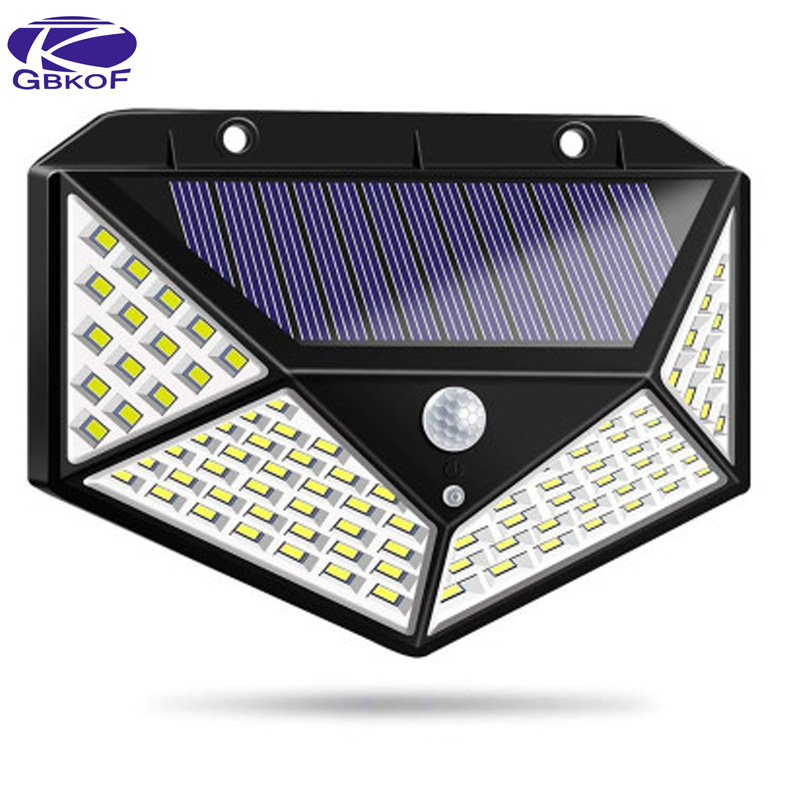 Upgraded 48 leds Solar Light Color Adjustable With Controller Three Modes Waterproof Lamp Lights For Outdoor Garden Wall Street|Street Lights| |  - title=