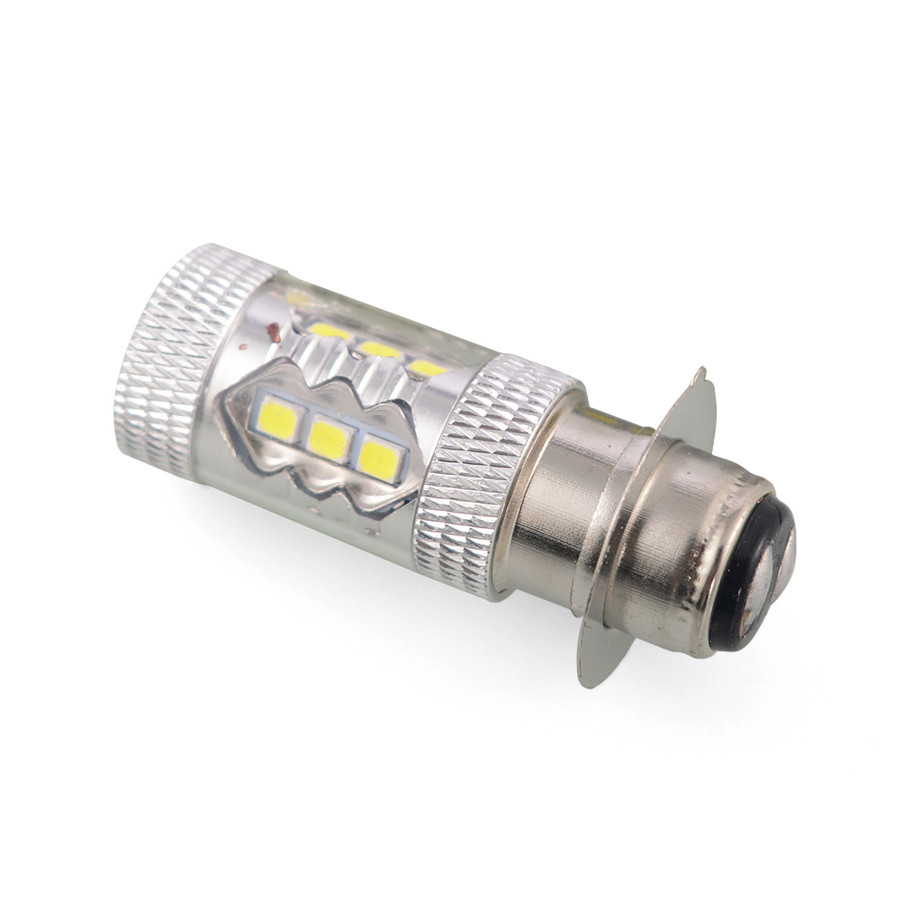 1pc <font><b>P15D</b></font> H6M Motorcycle <font><b>Headlight</b></font> DRL Moto 20SMD <font><b>LED</b></font> <font><b>Bulbs</b></font> Lights <font><b>P15D</b></font>-25-1 Motobike Scooter Lamps White image