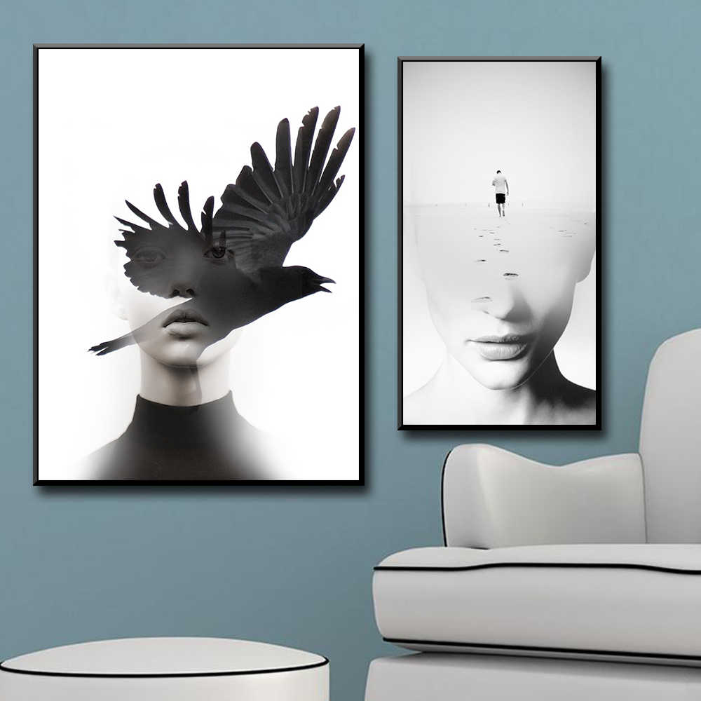 HD Printed Abstract figure bird cloud Was All A Dream Canvas Painting Wall Picture Wall Pictures Baby Kids Room Decor Wall Decor