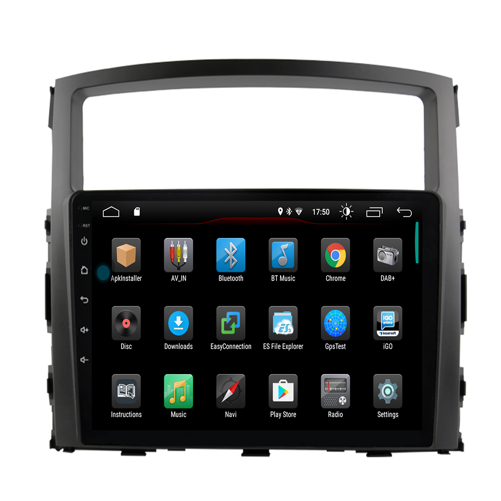 92.5D Car DVD Multimedia player For Mitsubishi PAJERO 2006 -2012 2din Android 10 Radio Tape Recorder Navigation GPS image