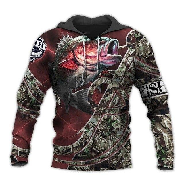 Fishing Full 3D Print– Sweatshirt, Hoodie, Pullover 1