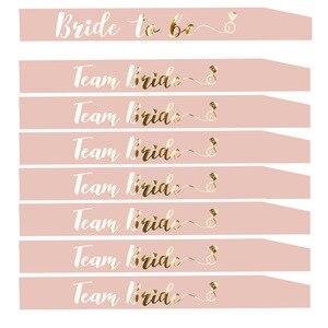 Image 1 - العروس ليكون وشاح مع فريق العروس للزينة حفلة الدجاجة الزفاف دش الزفاف حرف ذهب HW67