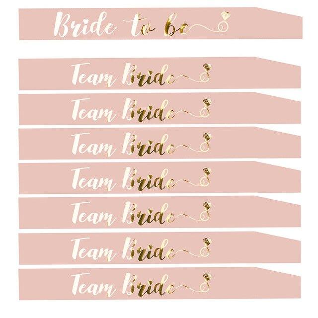 العروس ليكون وشاح مع فريق العروس للزينة حفلة الدجاجة الزفاف دش الزفاف حرف ذهب HW67