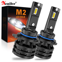 2x 9012 HIR2 Led Car Headlight Bulbs 9005 HB3 9006 HB4 16000LM Lamp for Land Rover Discovery Ford Focus 2017 Fiat 500 MK3 MK35