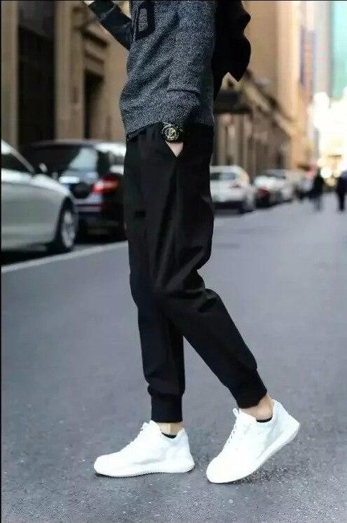 2018 Fashion Man Beam Leg Harem Pants Casual Pants Men's Teenager Sweatpants Gymnastic Pants Skinny Korean-style Fat Pants