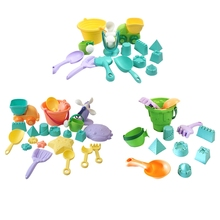 Sand-Box Molds Castle Beach-Toys Outdoor Children Truck Square Colorful