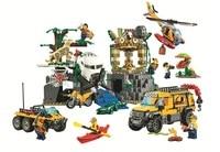 10712 Ungle Jungle Exploration Website Diy legoinglys City Jungle 60161 Building Block Toy Children's Gift City Compatible