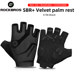 ROCKBROS Cycling Gloves Breathable Shockproof Bike Gloves Summer Fingerless Gloves MTB Mountain Bicycle Gloves Sports Gloves