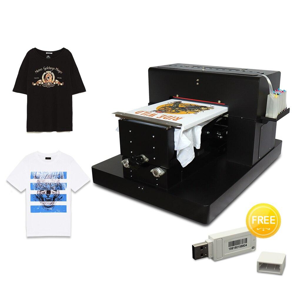 T-shirt imprimante 6 couleurs impression A3 à plat imprimante imprimante numérique pour Epson L1800 tête d'impression bricolage vêtement impression